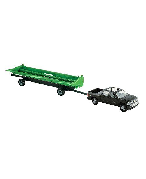 TOMY - John Deere Big Farm 1:16 Chevy Pickup With John Deere 512C Corn Head And Header Cart