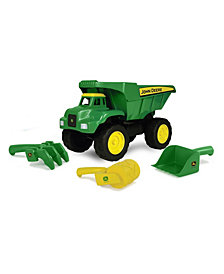 "Tomy - John Deere 15""Big Scoop Dump Truck With Sand Tools"