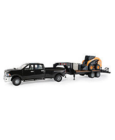 Big Farm Sv280 Skid Steer with Ram 3500 Truck and Trailer