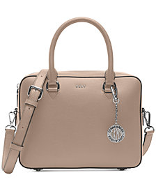 DKNY Bryant Sutton Leather Zip Satchel, Created for Macy's