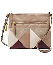 Fossil Fiona Patchwork Leather & Suede Crossbody