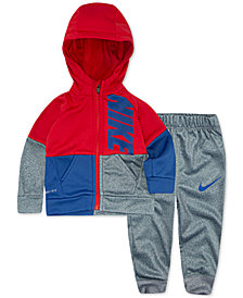 Nike Baby Boys 2-Pc. Colorblocked Therma-FIT Jacket & Pants Set