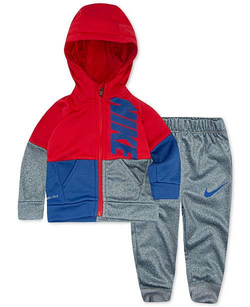 Nike Baby Boys 2 Pc. Colorblocked Therma FIT Jacket