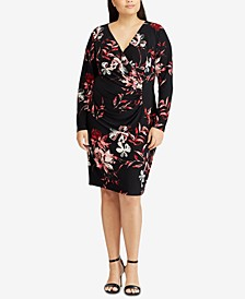 Shirred Floral-Print Dress