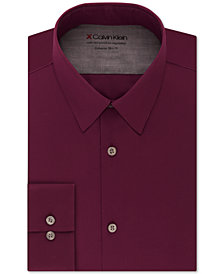 Calvin Klein X Men's Extra-Slim Fit Thermal Stretch Performance Solid Dress Shirt