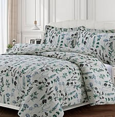 Fleur Cotton Flannel Printed Oversized King Duvet Set
