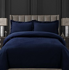 Cotton Flannel Solid Oversized King Duvet Set