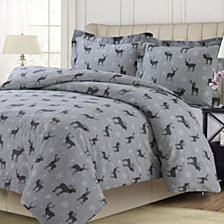 Checkered Buck Heavyweight Cotton Flannel Printed Oversized Duvet Sets