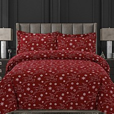 Dots & Deers Cotton Flannel Printed Oversized King Duvet Set
