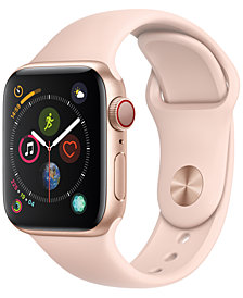 AppleWatch Series4 GPS+Cellular, 40mm Gold Aluminum Case with Pink Sand Sport Band