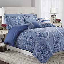 Atlantis 300 Thread Count Cotton Oversized Queen Duvet Cover Set