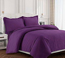 Valencia Microfiber Oversized King Duvet Cover Set