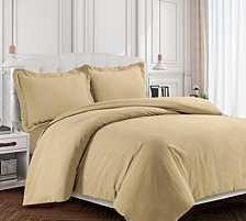 Valencia Microfiber Oversized Queen Duvet Cover Set