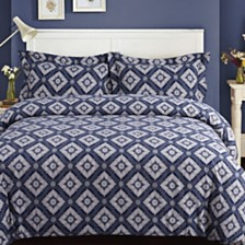 Damask Cotton Flannel Printed Oversized Duvet Sets