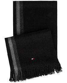 Tommy Hilfiger Men's Border-Stripe Textured Scarf