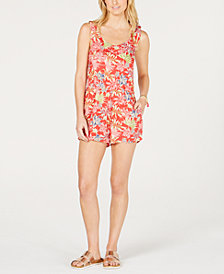 Roxy Juniors' Temple Of Tropics Printed Romper
