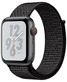 AppleWatch Nike+ Series4 GPS+Cellular, 44mm Space Gray Aluminum Case with Black Nike Sport Loop
