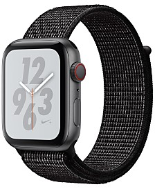 Apple Watch Nike+ Series 4 GPS + Cellular, 44mm Space Gray Aluminum Case with Black Nike Sport Loop