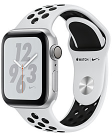 AppleWatch Nike+ Series4 GPS, 40mm Silver Aluminum Case with Pure Platinum Black Nike Sport Band
