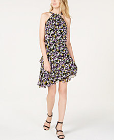 I.N.C. Floral-Print Halter Dress, Created for Macy's