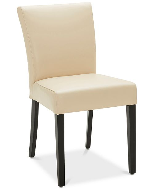 Furniture CLOSEOUT! Tate Leather Parsons Dining Chair