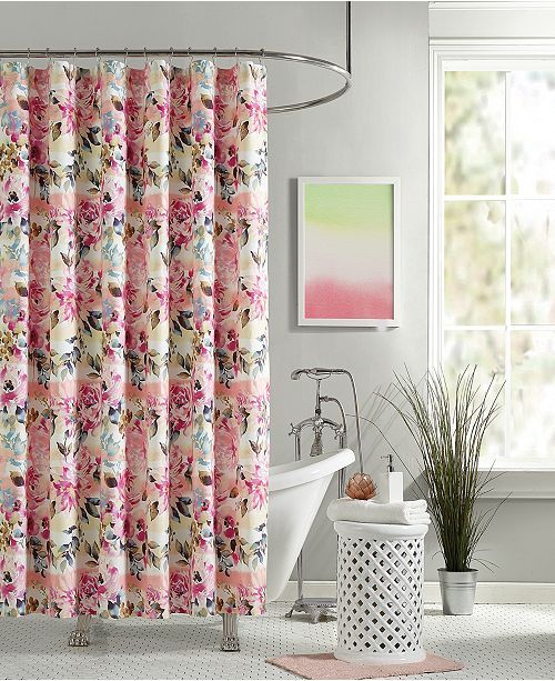 Jessica Simpson Bellisima Lined Cotton Shower Curtain