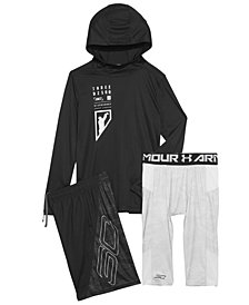 Under Armour Big Boys SC30-Print Hooded T-Shirt, Shorts & Leggings