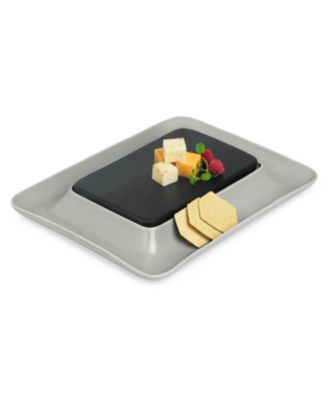 Hotel Modern Wood & Stone Cheese Cracker Server, Service for 4, created for Macy's