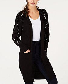 I.N.C. Faux-Pearl Duster Cardigan, Created for Macy's