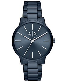 A|X Armani Exchange Men's Cayde Blue Stainless Steel Bracelet Watch 42mm