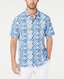 Tommy Bahama Men's Hex Factor Geo-Print Silk Camp Shirt