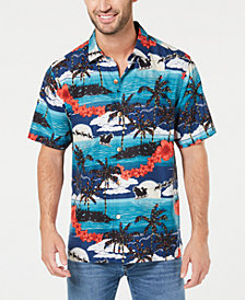 Tommy Bahama Men's Moonlight In Paradise Tropical-Print Silk Camp Shirt