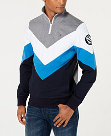 Tommy Hilfiger Men's Madison Mock Neck Chevron Sweatshirt