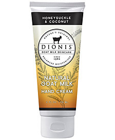 Dionis Goat Milk Hand Cream, Honeysuckle & Coconut, 2 oz.