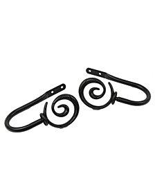 Spiral Curtain Rod Holdback (pair)