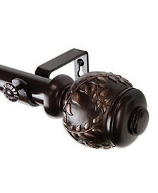 """Colette Curtain Rod 1"""" OD 66-120 inch"""