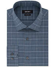 DKNY Men's Slim-Fit Stretch Check Dress Shirt, Created for Macy's