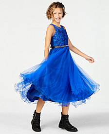 Beautees Big Girls Embroidered Ball Gown