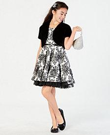 Beautees Big Girls 2-Pc. Faux-Fur Shrug & Dress Set