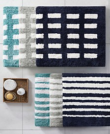Madison Park Kagen Reversible High Pile Tufted Microfiber Bath Rug Collection