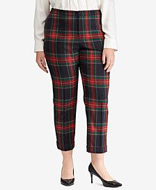 Lauren Ralph Lauren Plus Size Tartan Twill Pants