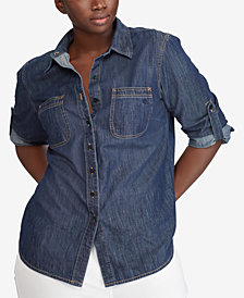 Lauren Ralph Lauren Plus Size Cotton Shirt
