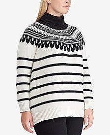 Lauren Ralph Lauren Plus Size Contrast Sweater