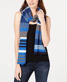 Eileen Fisher Striped Merino Wool Scarf