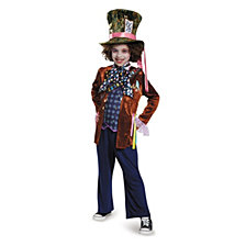Alice in Wonderland Through The Looking Glass Deluxe Mad Hatter Big Boys Costume