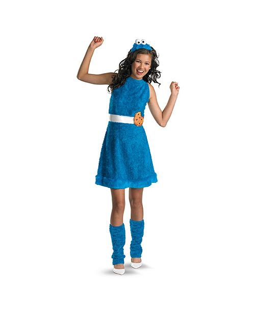 BuySeasons Cookie Monster Little and Big Girls Costume