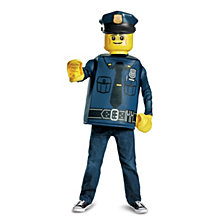 Lego Iconic Police Officer Classic Big Boys Costume