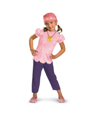 BuySeasons Little Girls Disney Jake and The Never Land Pirates Izzy Classic Costume