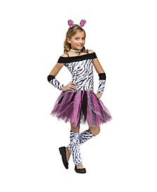 Zebra Little and Big Girls Costume