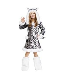 Snow Leopard Big Girls Costume